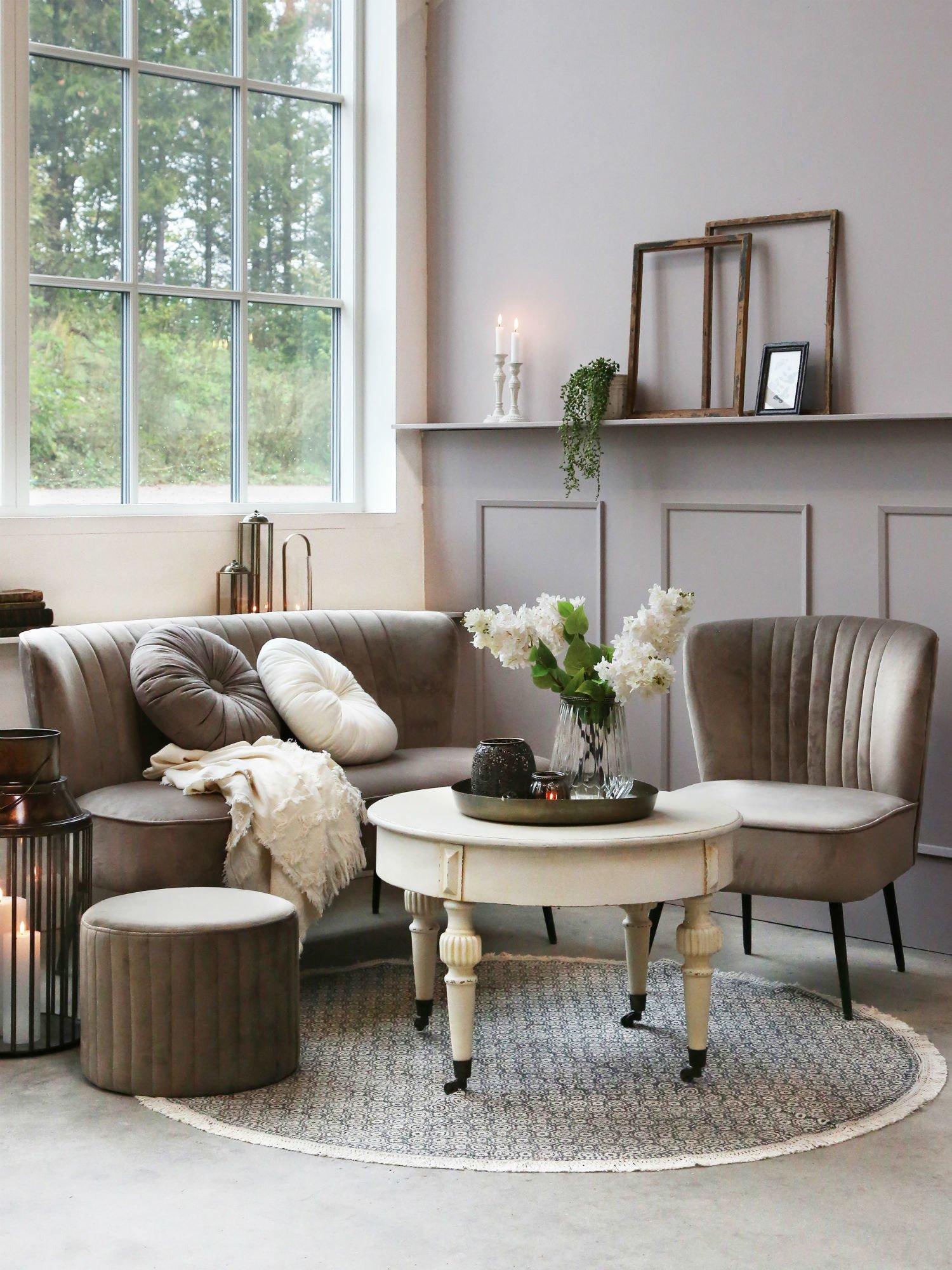 Gemutliche Couch Ecke Von Chic Antique Skandeko