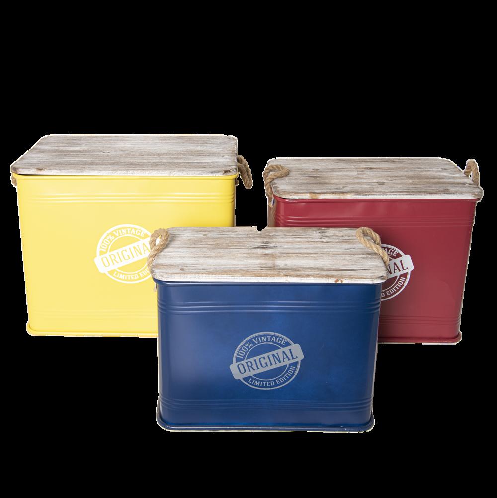 Clayre & Eef 3 Aufbewahrungsboxen Vintage im Set