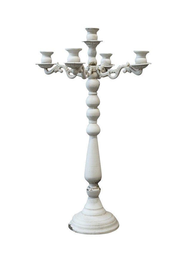 Chic Antique Alter französischer Kerzenständer 4 armig