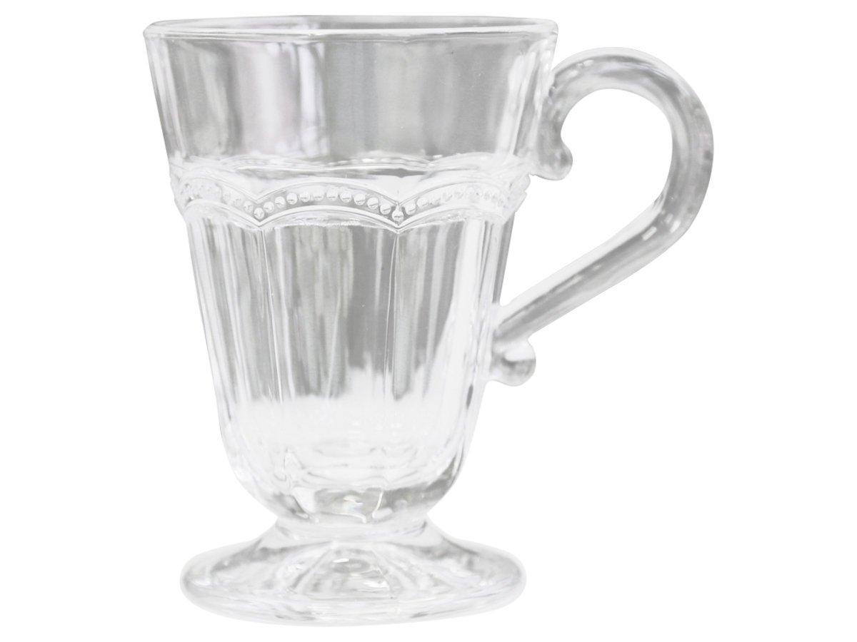 Chic Antique Antoinette Glas-Becher mit Perlenkante