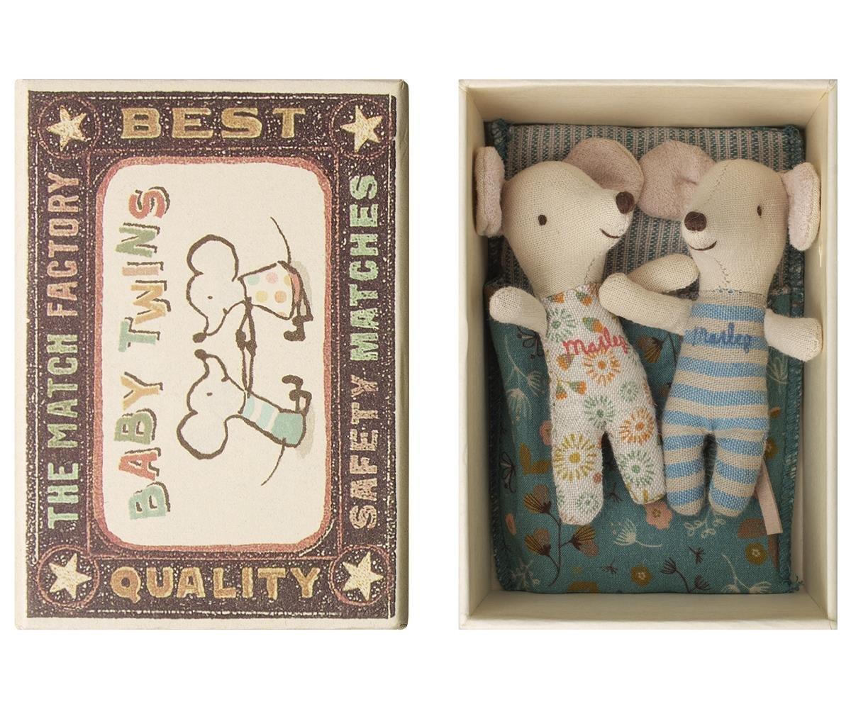 Maileg Baby Maus Zwillinge in Box