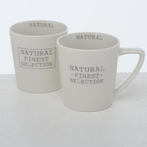 Boltze Becher Natural 2er Set