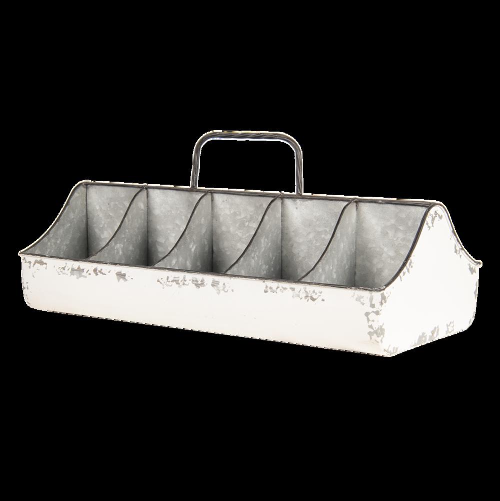 Clayre & Eef Behälter Metallkiste mit Fächern