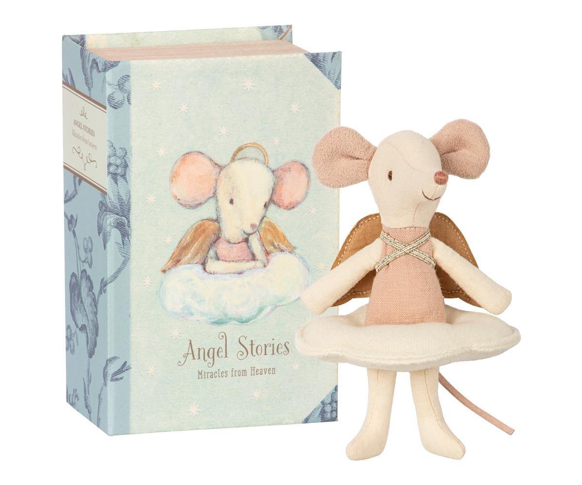 Maileg Big Sister Maus Engel im Buch