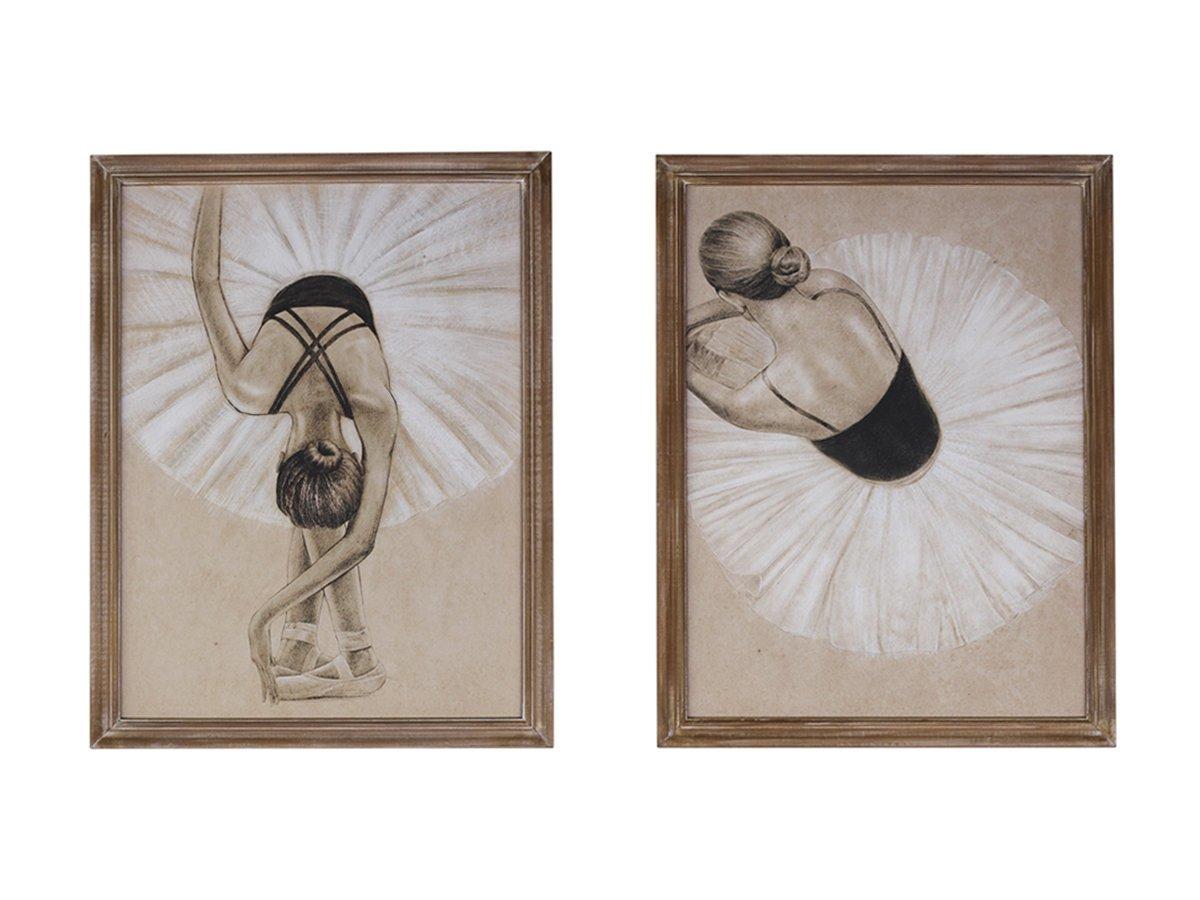 Chic Antique Bilder mit Ballerina 2er Satz