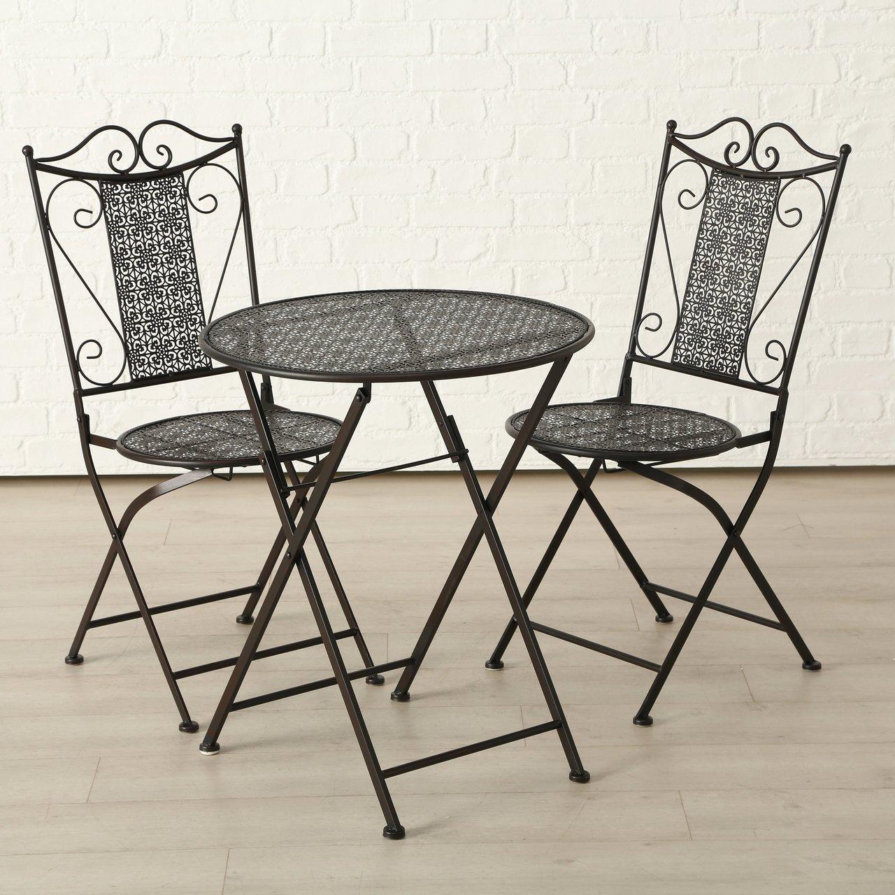 Boltze Bistroset Broder Tisch und Stühle