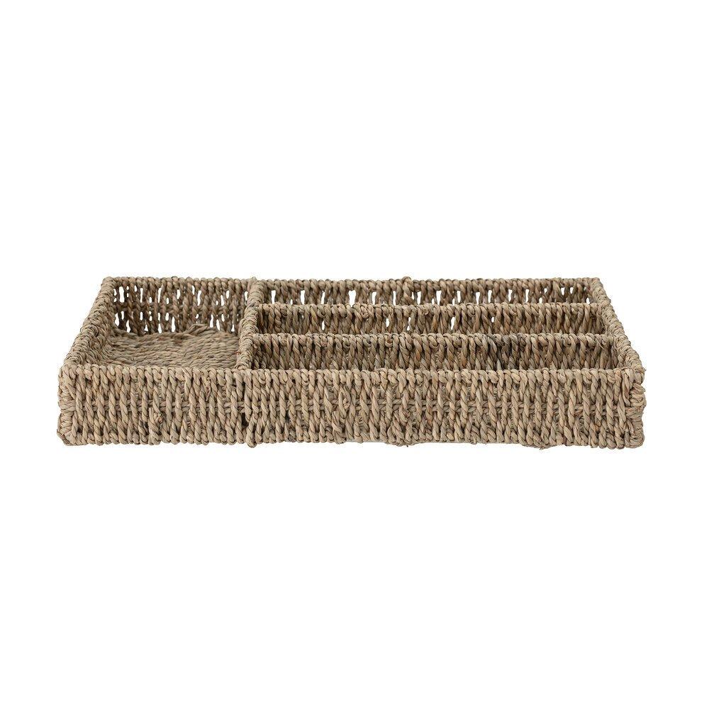 Bloomingville Besteckkasten Fika aus Seegras
