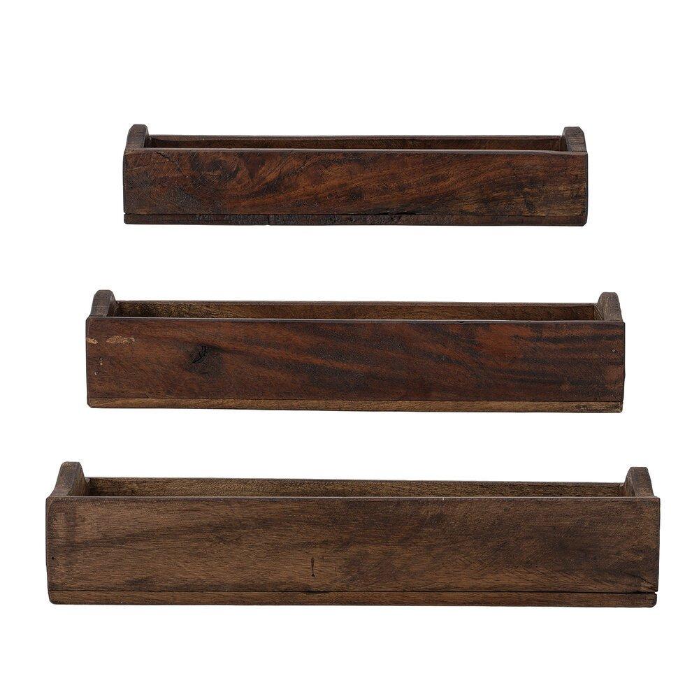 Bloomingville Box Park 2er Set aus recyceltem Holz