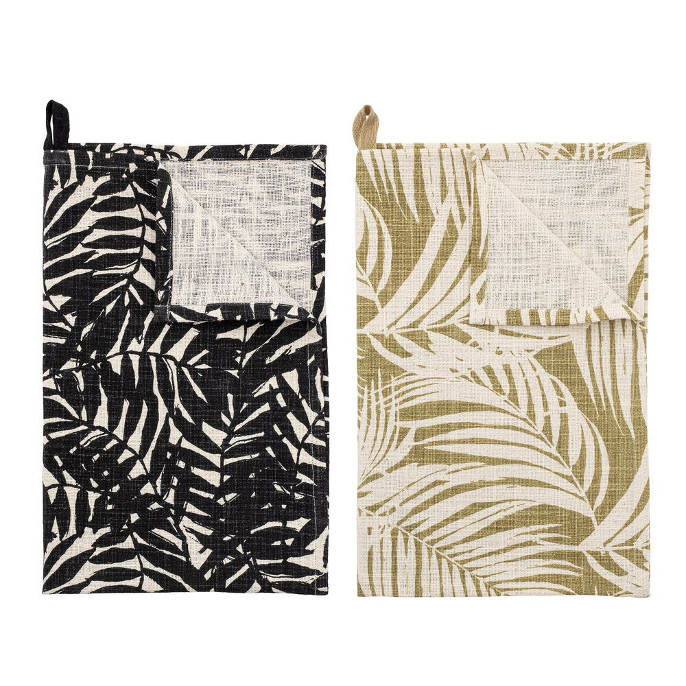 Bloomingville Geschirrhandtuch Ivora 2er Set aus Baumwolle