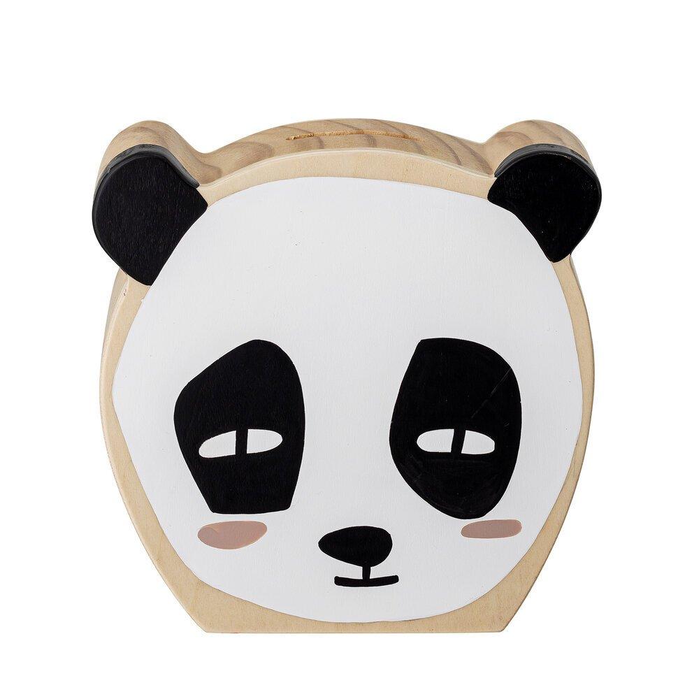 Bloomingville Panda Spardose Sanne aus Buchenholz