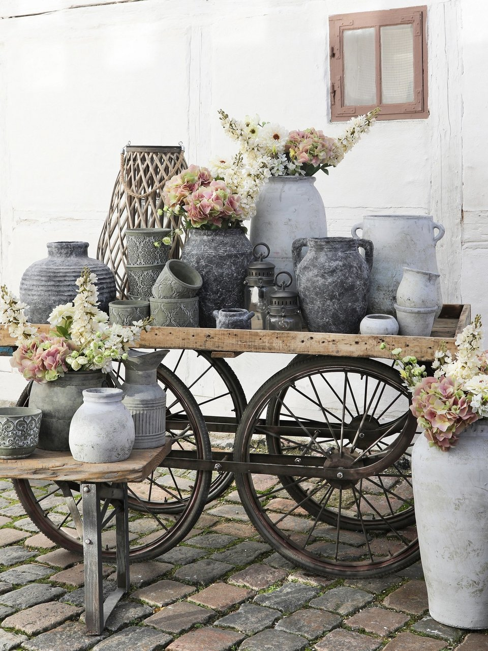 Blumentopf Ensemble von Chic Antique