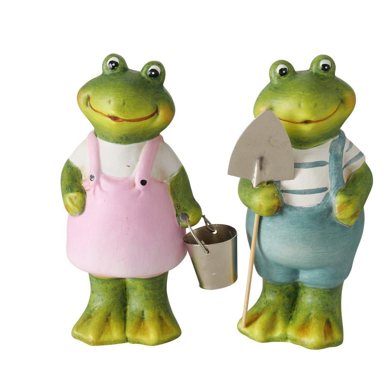Boltze 2er Set Frosch Figur Milmy