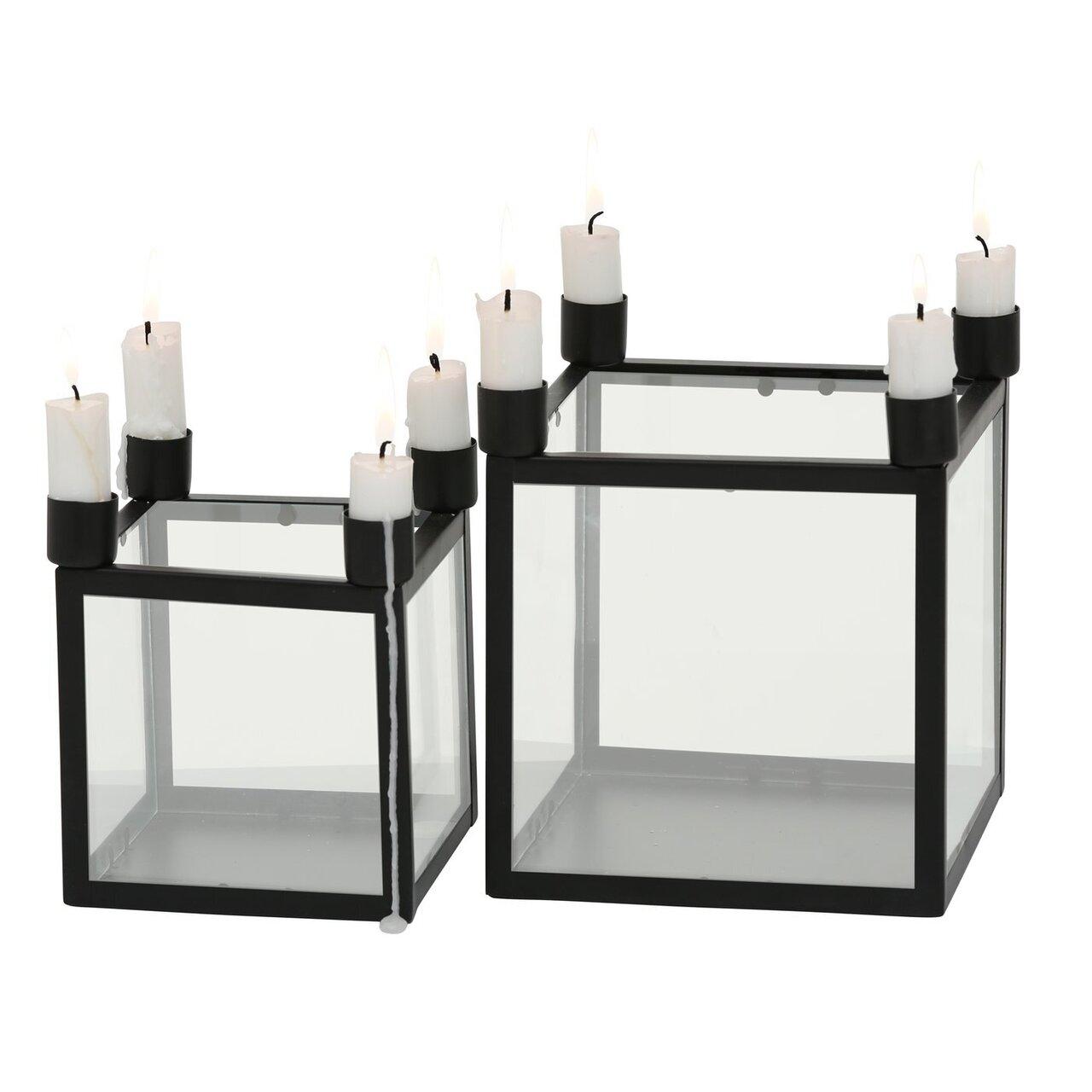 Boltze 2er Set Kerzenständer Kerzenhalter Kiro