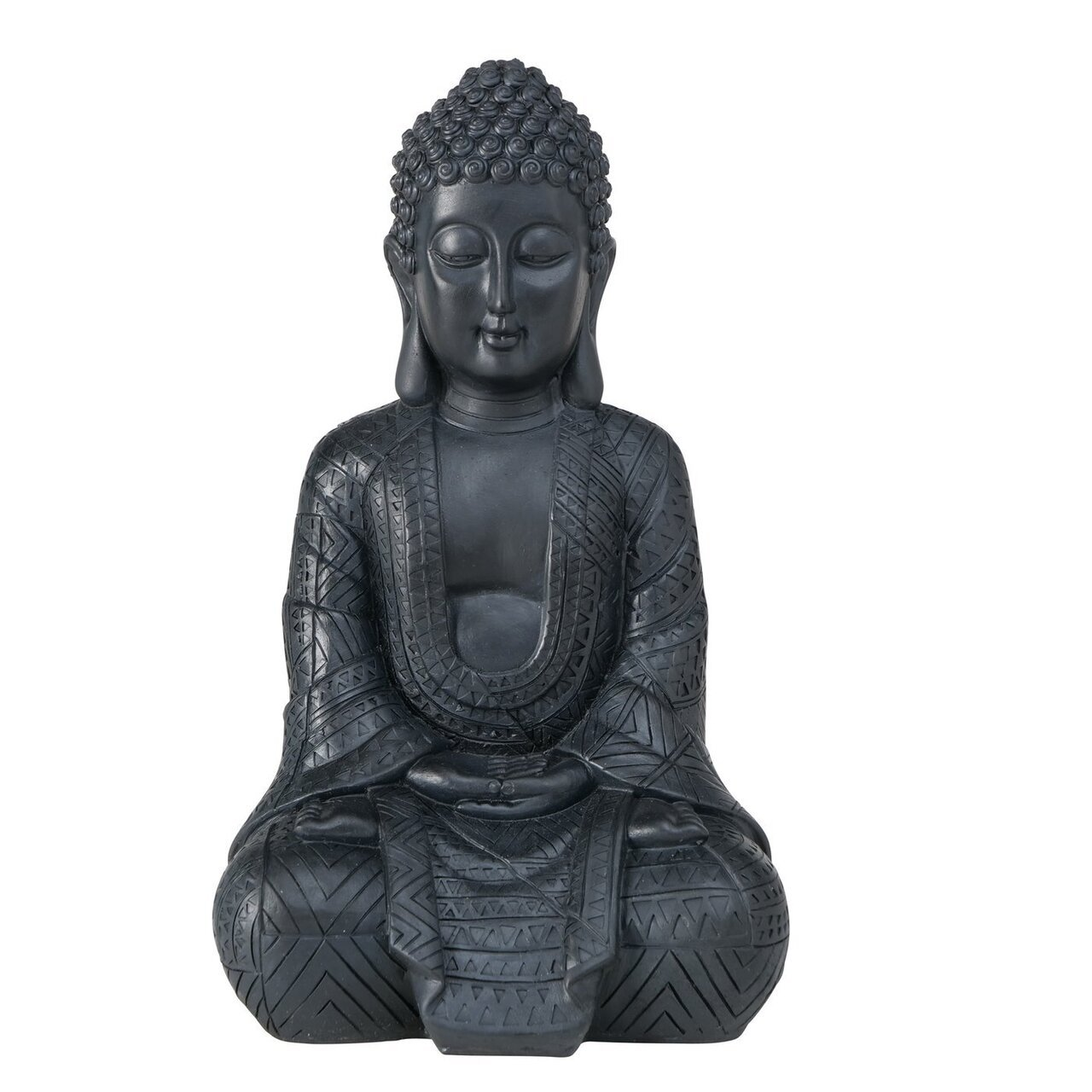 Boltze Buddha Figur Jarven schwarz