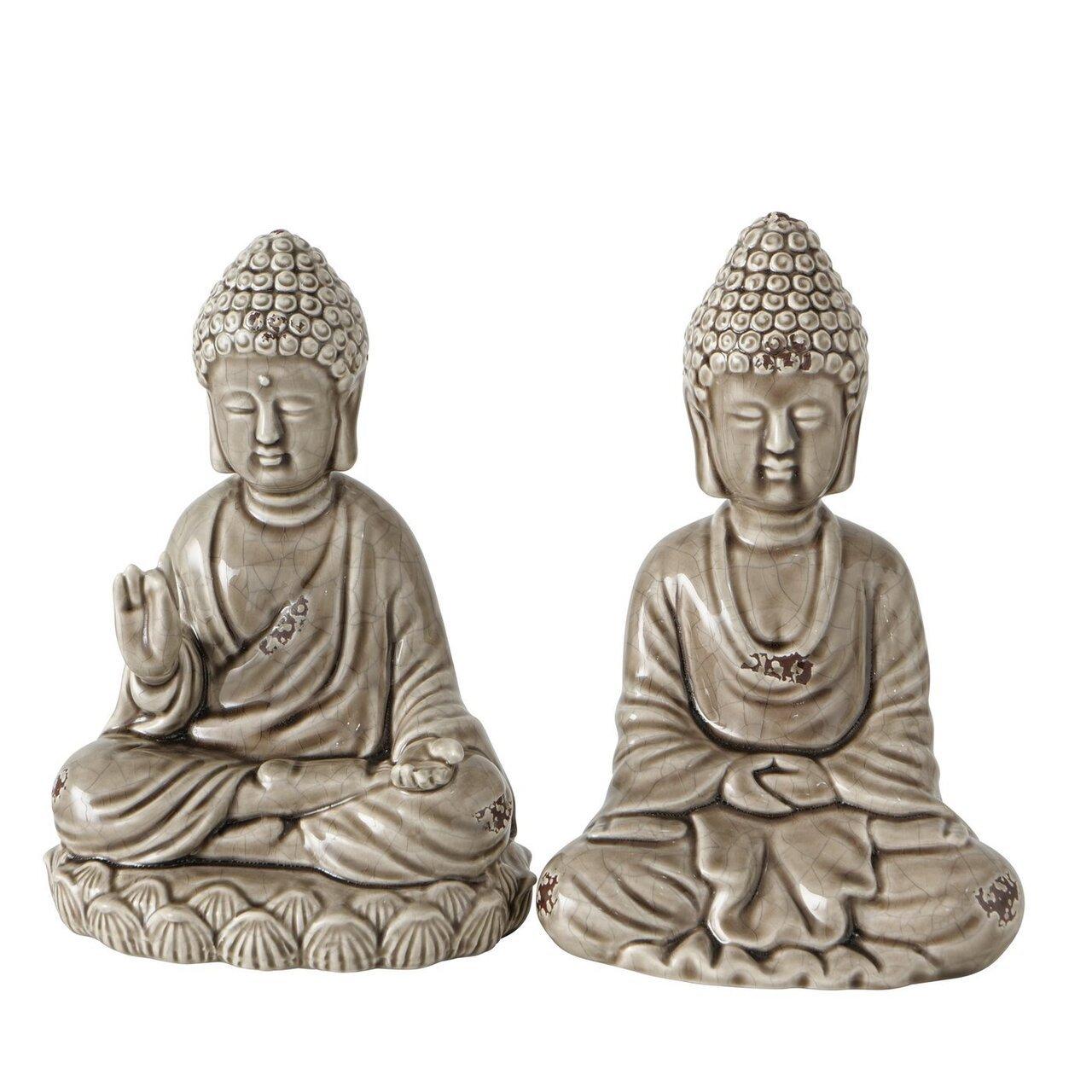 Boltze Buddha Figur Lamina 2er Set