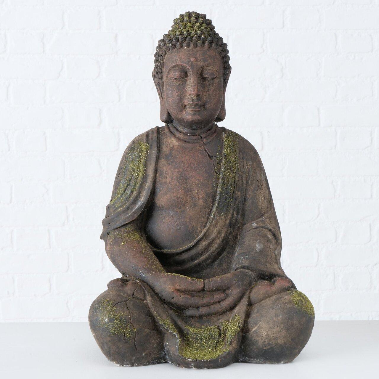 Boltze Buddha Figur Maroon