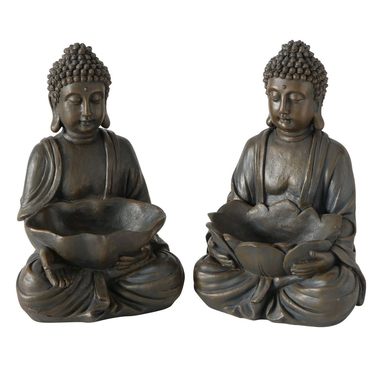 Boltze Buddha Figur mit Blütenschale