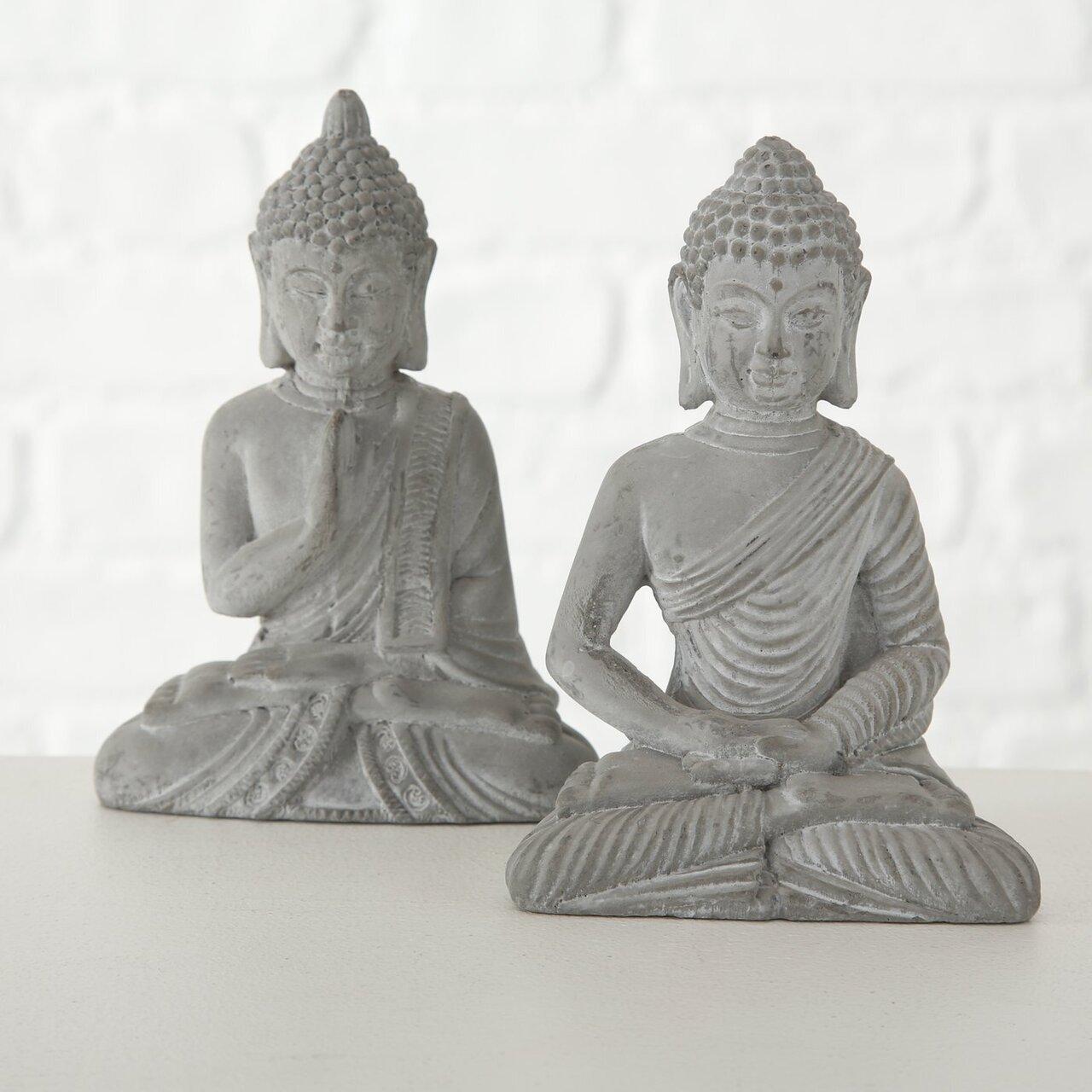 Boltze Figur Buddha 2er Set