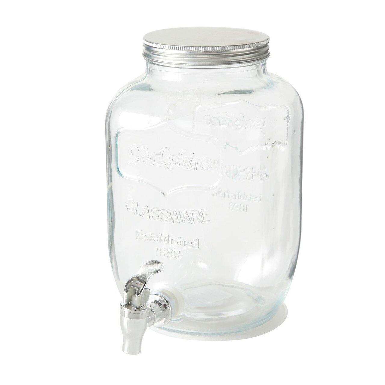 Boltze Getränkespender mit Hahn aus Glas