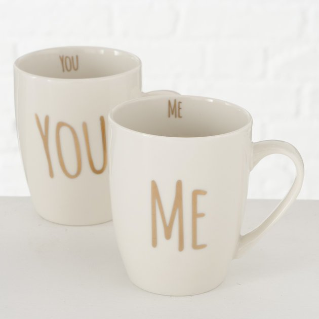 Boltze Keramik Becher You Me