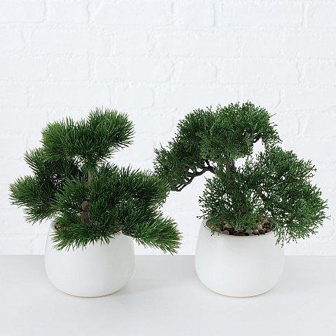 Boltze Kunst- und Topfpflanze Lian 2er Set