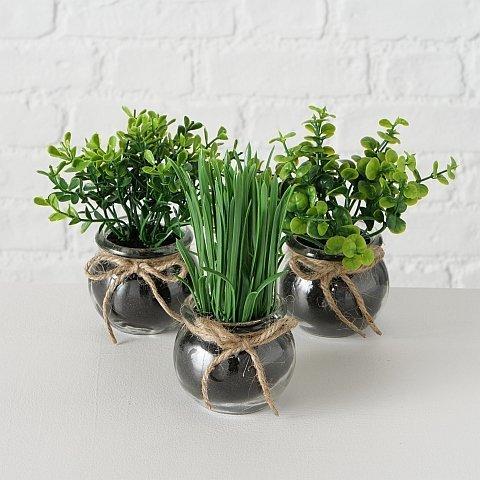 Boltze Kunstpflanze Sukkulente 3er Set