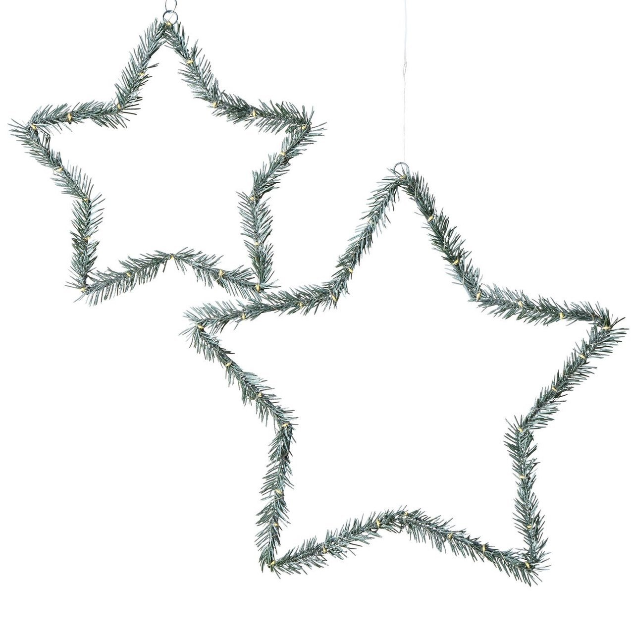 Boltze LED Dekoanhänger Weihnachtssterne 2er