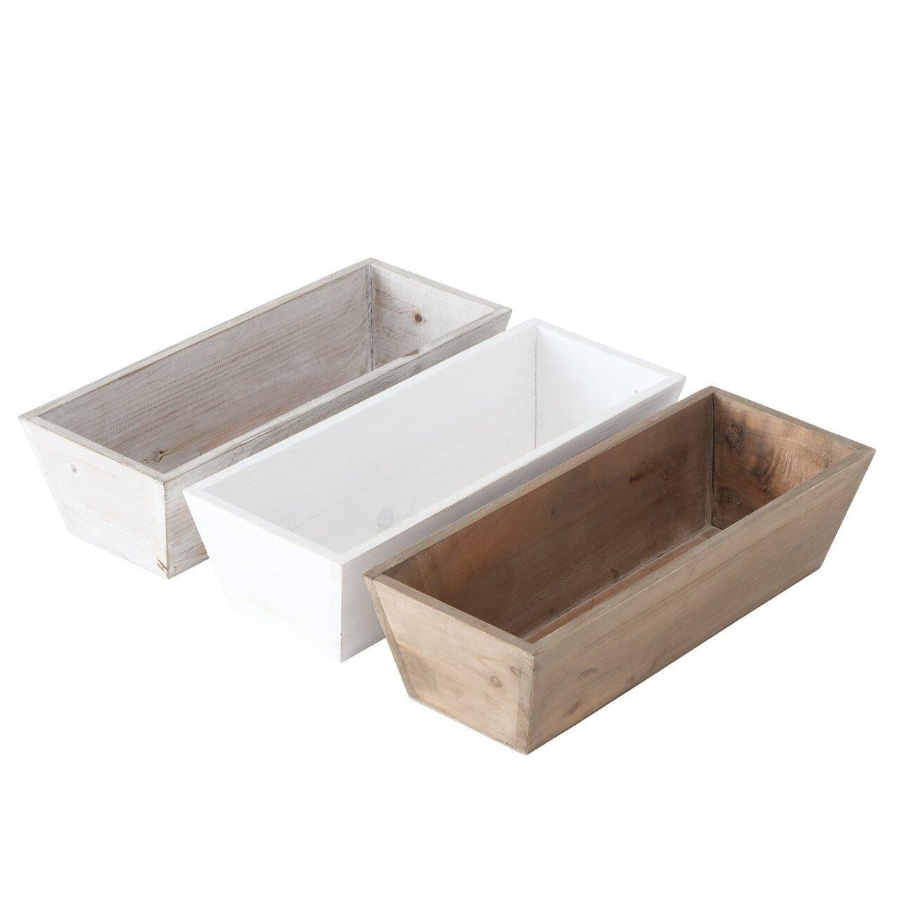 Boltze Schönes 3er Holzboxen Set Feli