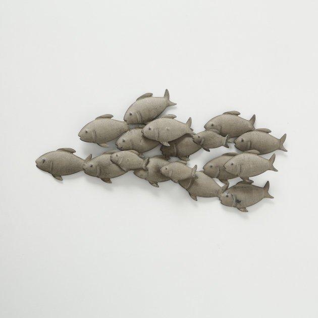 Boltze Wanddeko Wandobjekt Fischschwarm klein