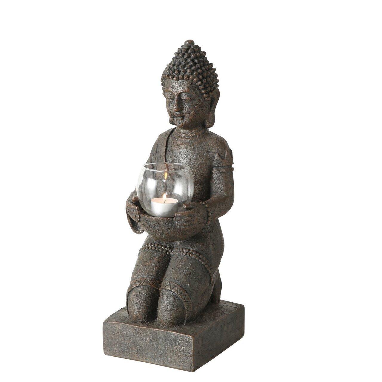 Boltze Windlicht Buddha Figur kniend