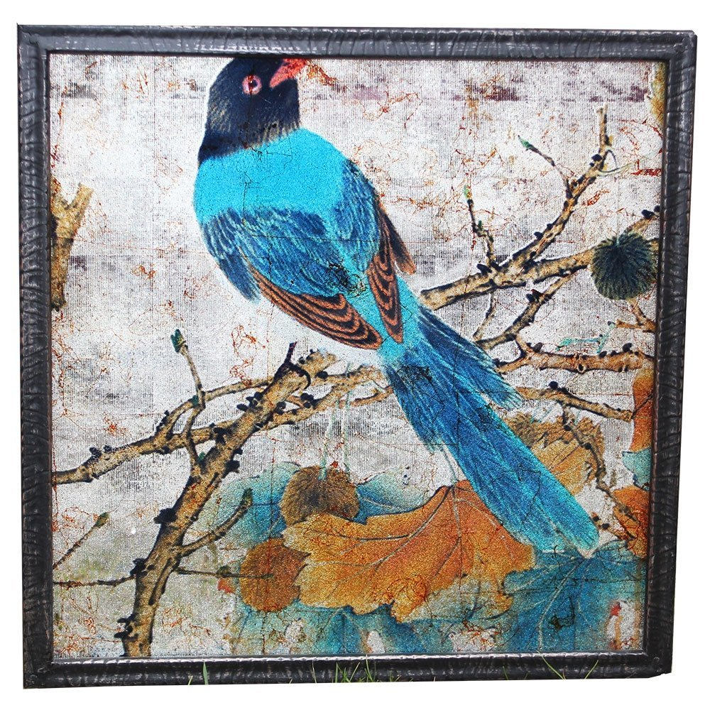 byRoom Bild Square Bird mit Metallrahmen