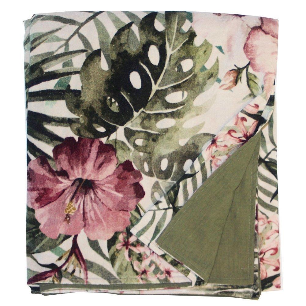 byRoom Decke Monstera and Pink Flowers