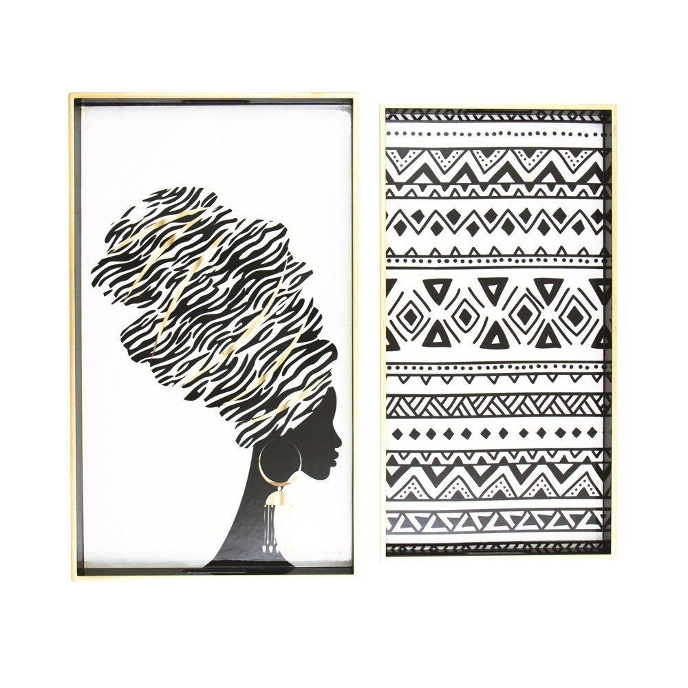 byRoom Tablett 2er Set African
