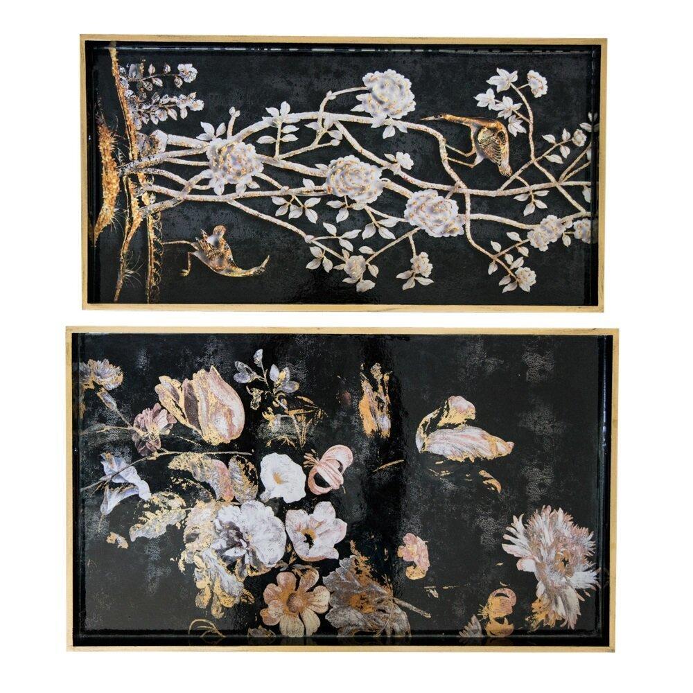 byRoom Tablett 2er Set Flower Bird
