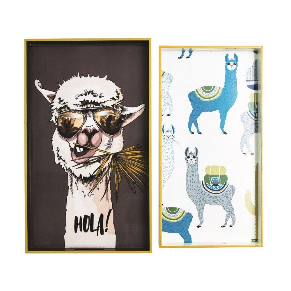 byRoom Tablett 2er Set Lama