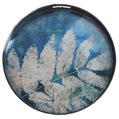 byRoom Tablett rund Blue Leaf