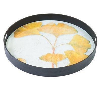 byRoom Tablett rund Ginkgo Yellow Leaf