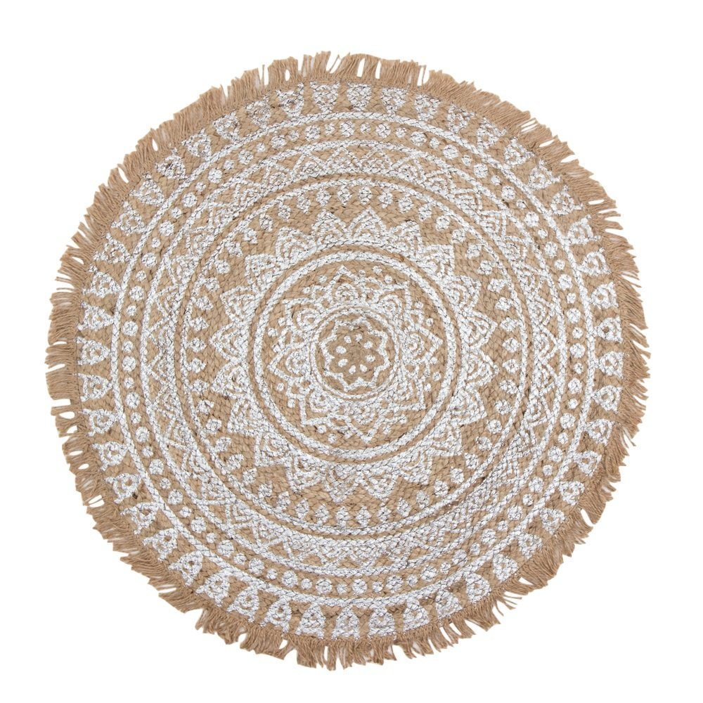 byRoom Teppich aus Jute mit Mandala Print