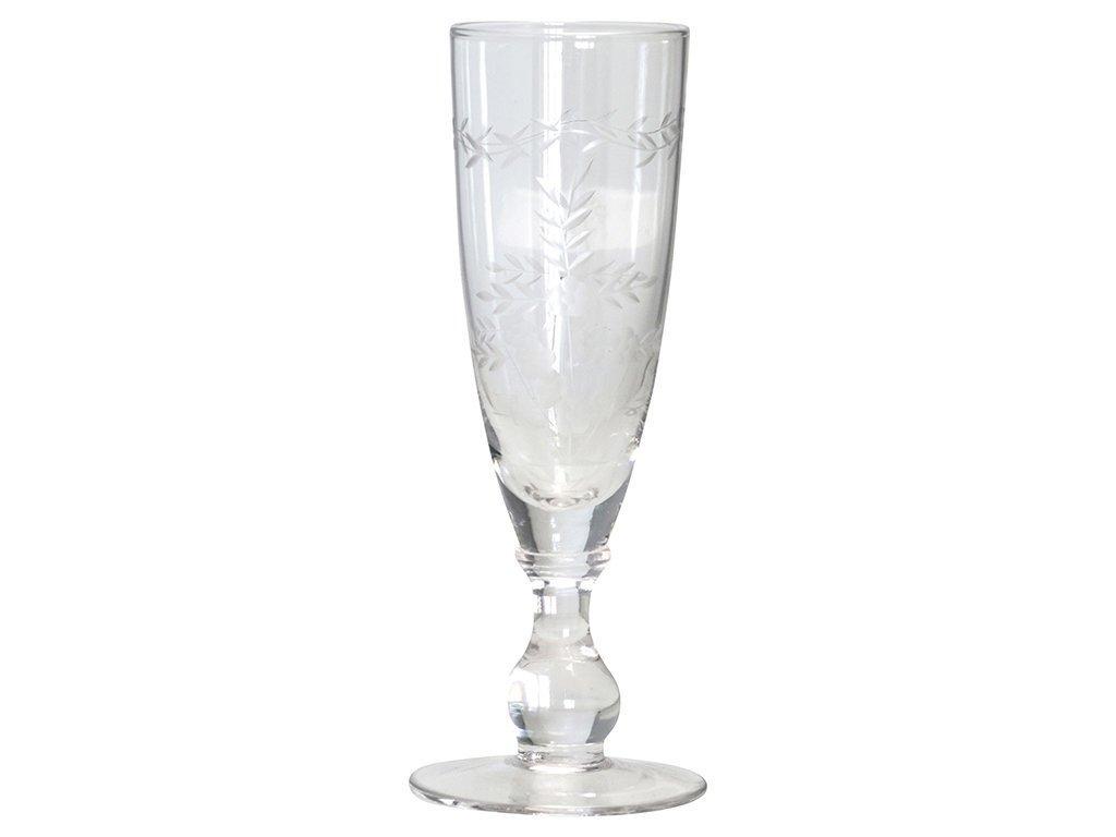 GreenGate Champagner Glas Sektglas mit Schliff