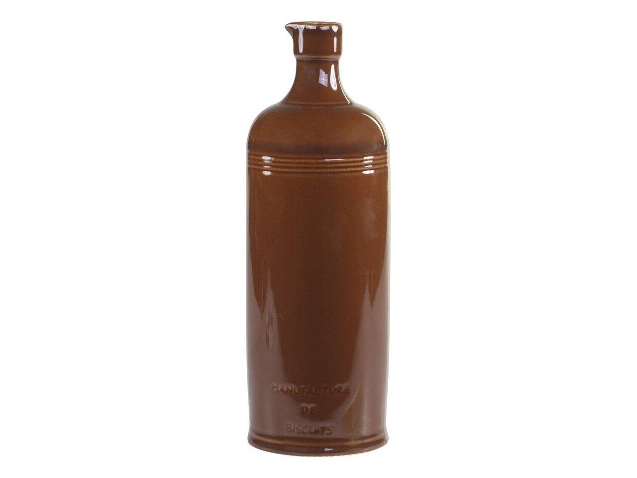 Chic Antique Alte französische Flasche mokka