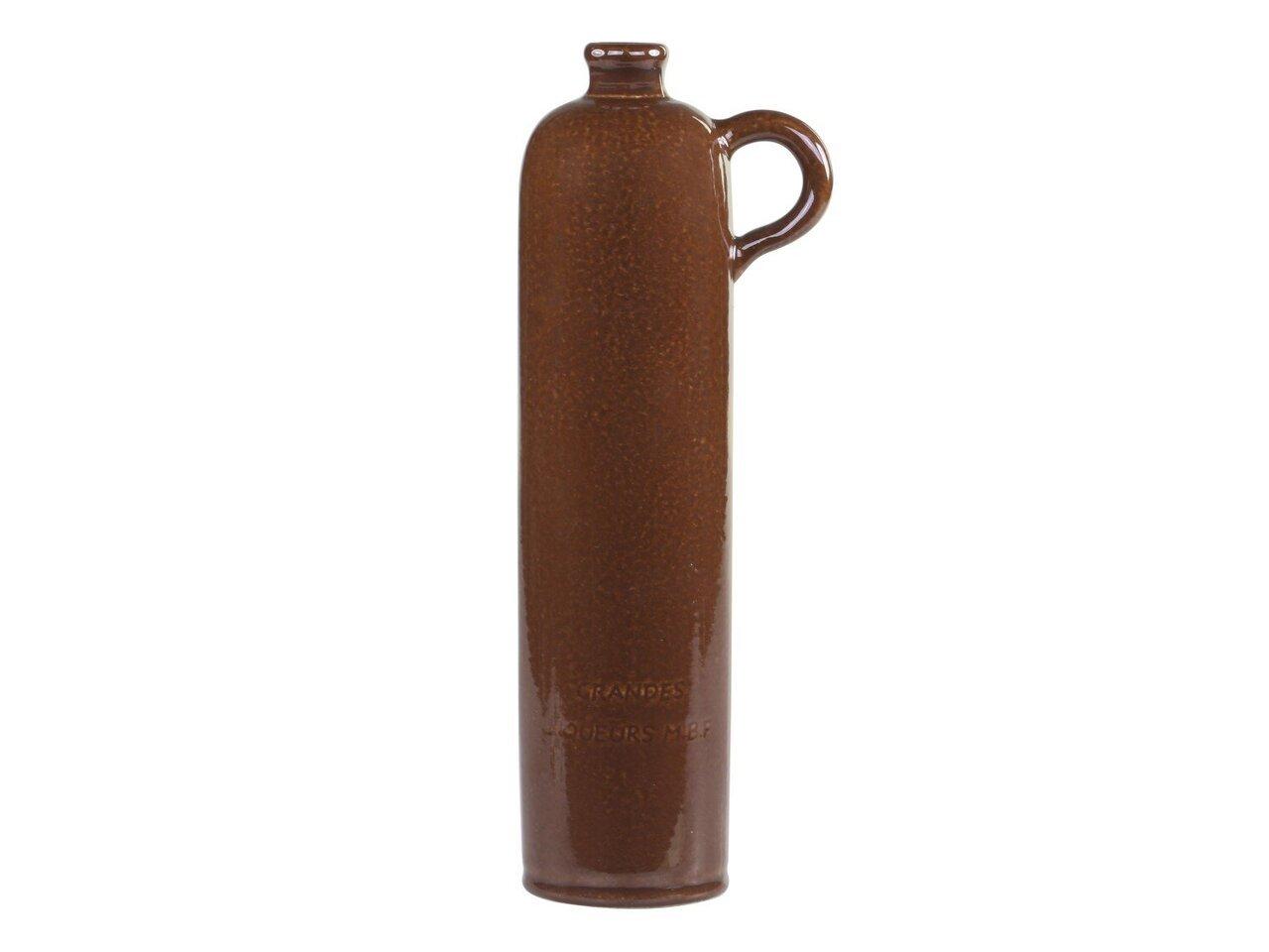 Chic Antique Altfranzösische Flasche mokka mit Henkel