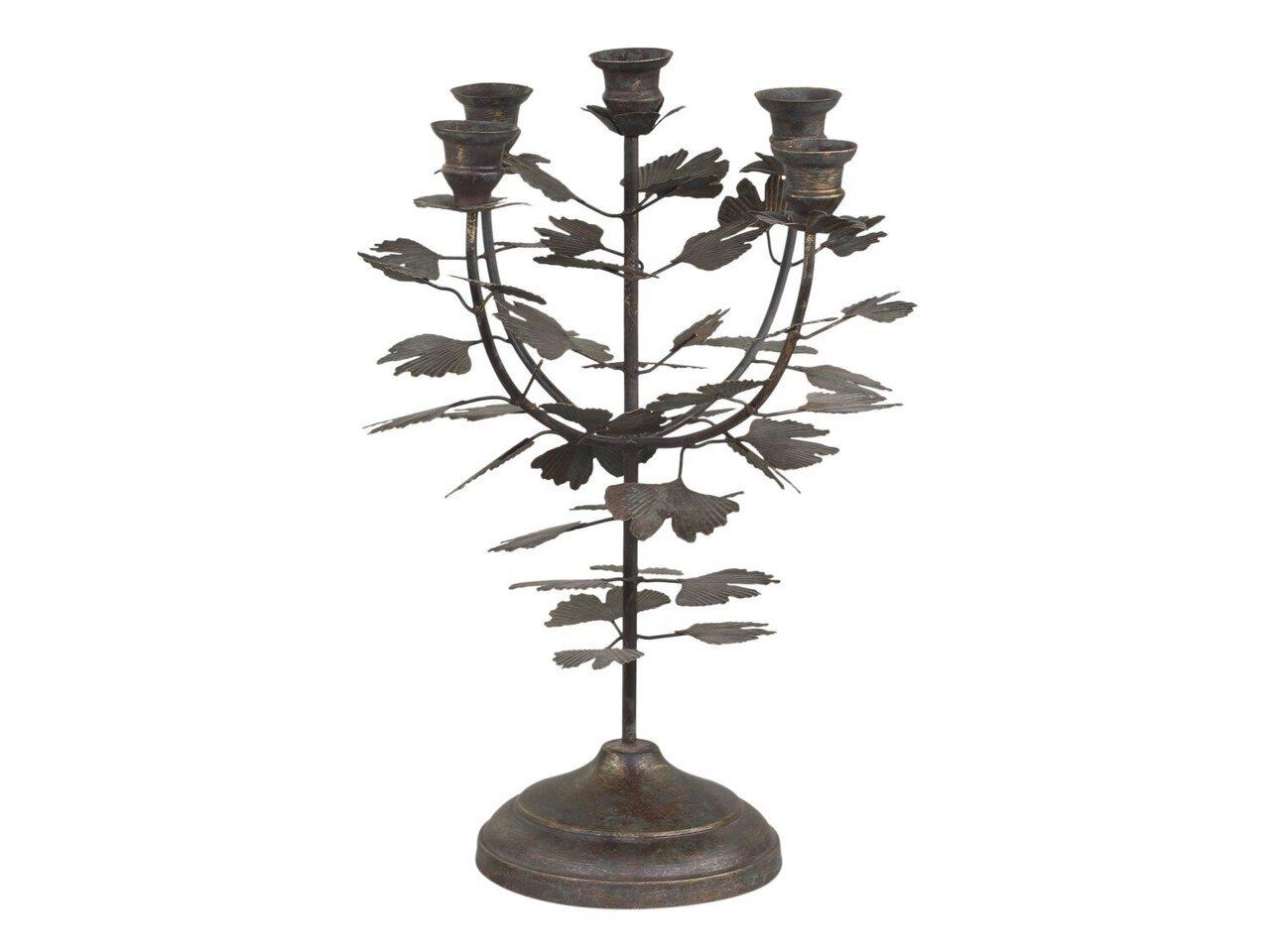 Chic Antique Altfranzösischer Kerzenständer mit 5 Haltern