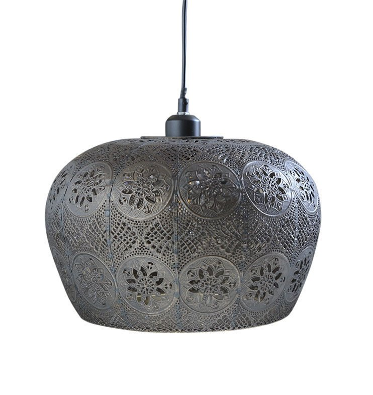 Chic Antique Antike Vire Lampe mit Muster