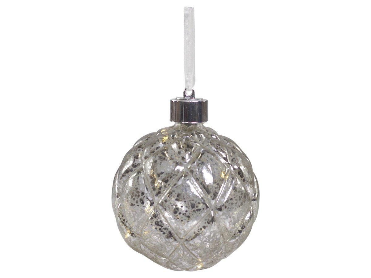 Chic Antique Baumkugel bauernsilber mit LED