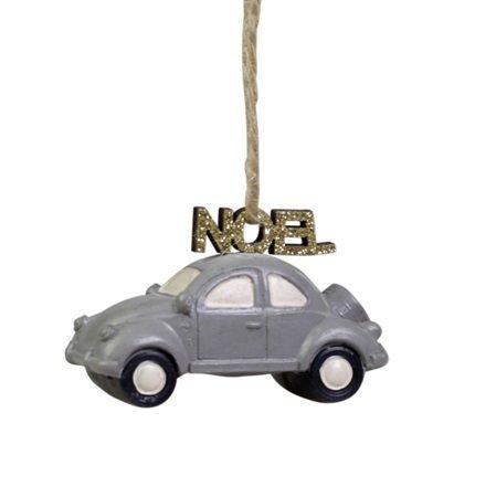 Chic Antique Baumschmuck Auto mit Noel türkis