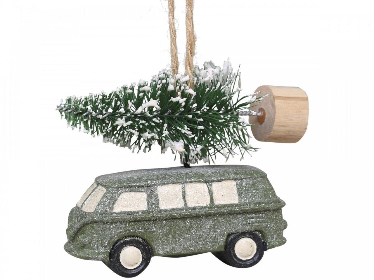 Chic Antique Baumschmuck Bulli mit Weihnachtsbaum