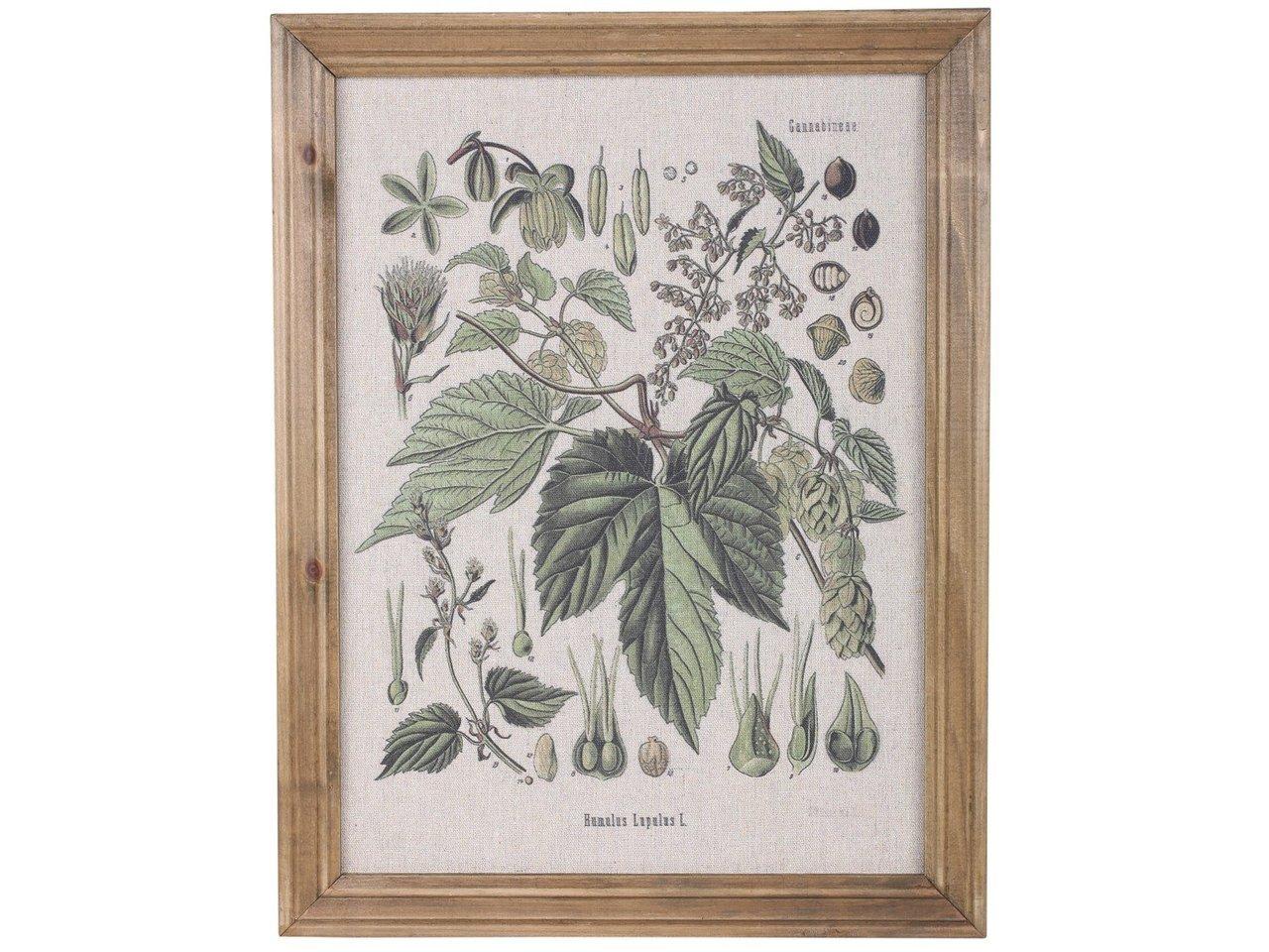 Chic Antique Bild mit Blumenmotiv und Naturrahmen
