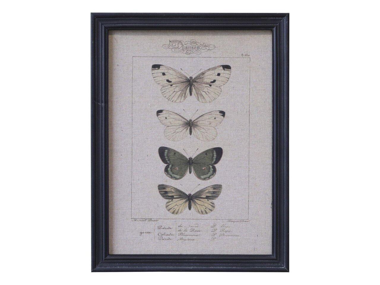 Chic Antique Bild mit Schmetterlingen