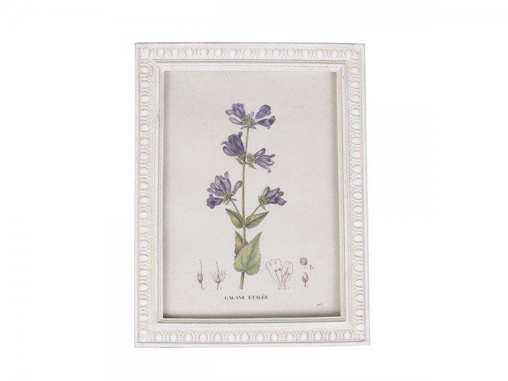 Chic Antique Blumen Bild im Bilderrahmen