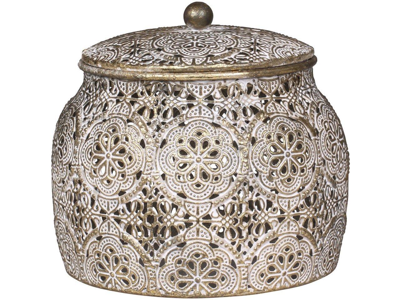Chic Antique Dose mit Muster und Deckel
